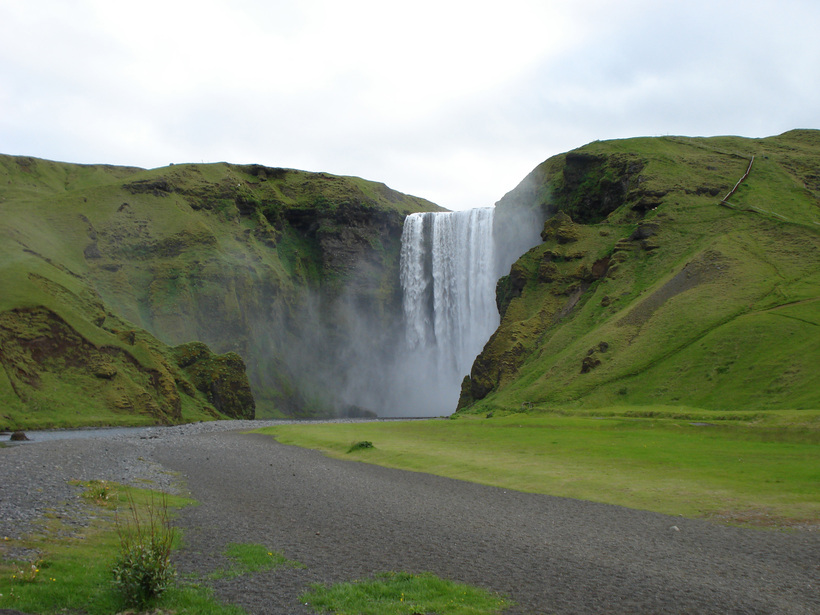 Skógafoss waterfall in South Iceland.