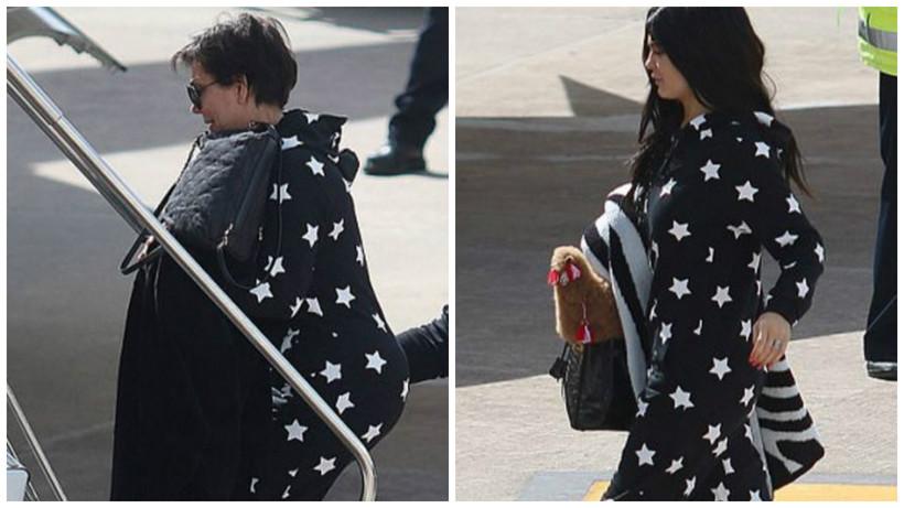 Kris Jenner og dóttir hennar Kylie Jenner klæddust sama gallanum ...