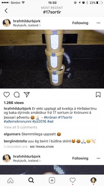 Hrafnhildur Björk stillti deiginu upp í umbúðunum.