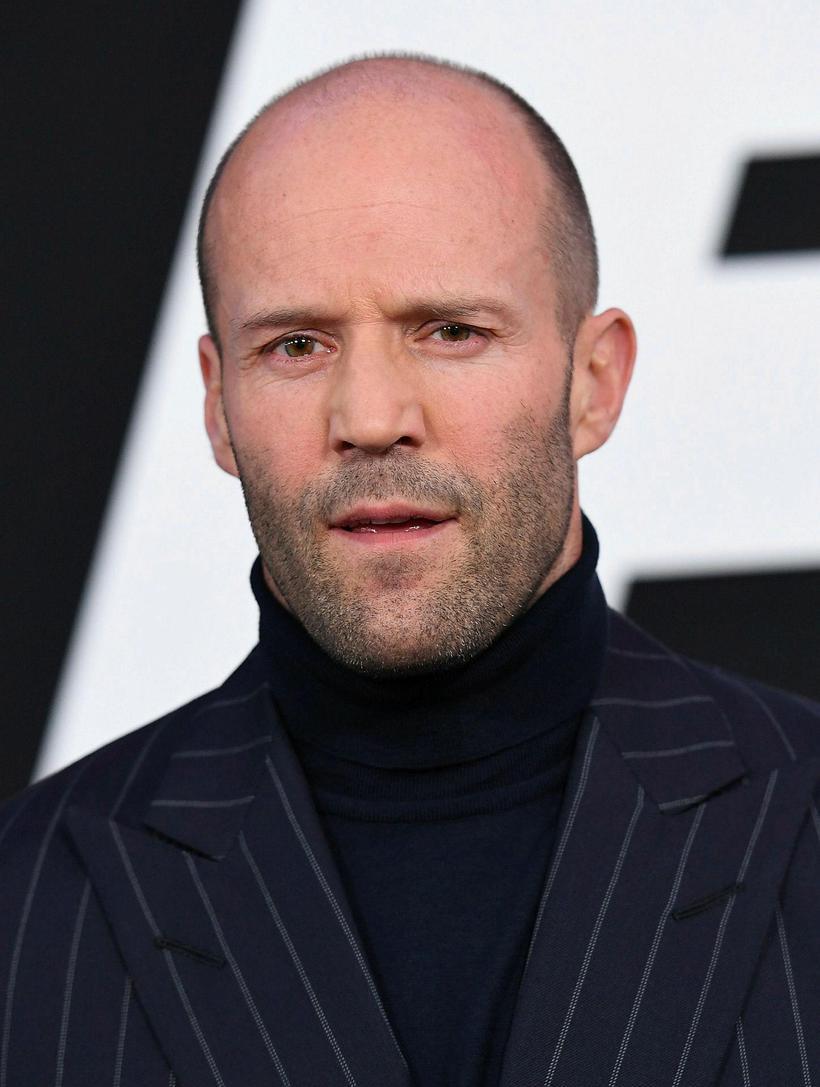 Leikarinn Jason Statham er hárlaus og vegnar vel.