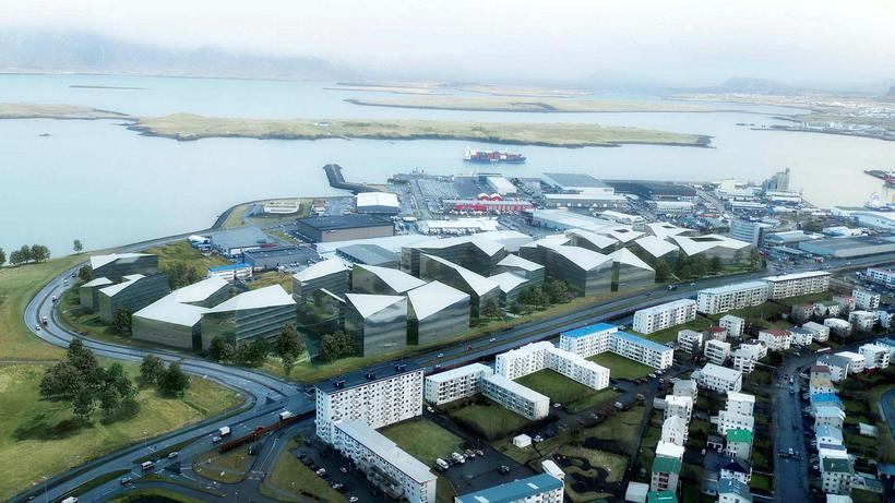 Þingvangur is preparing to build numerous high rise buildings on ...
