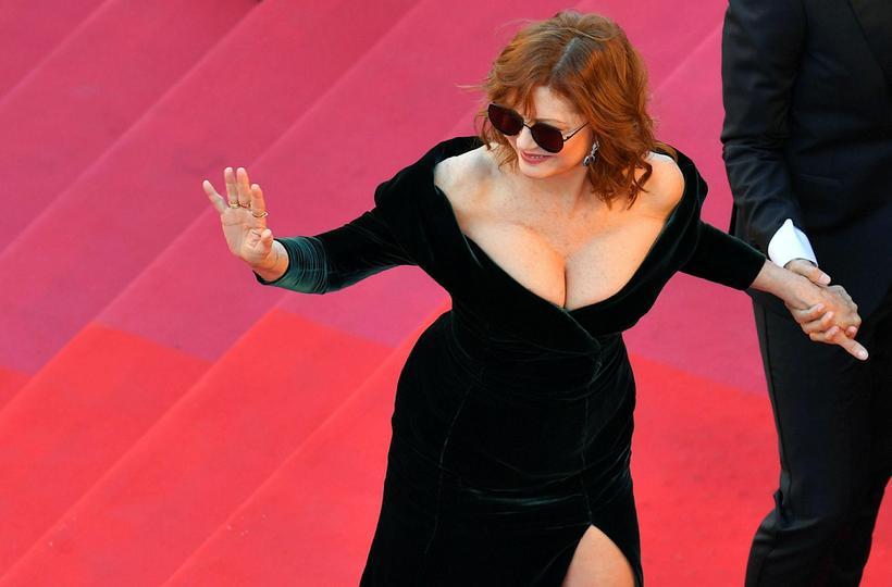 Susan Sarandon nýtur sín í Cannes þessa dagana.