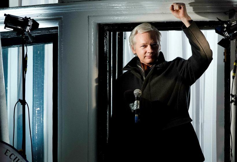 Assange í desember 2012. Hann hefur fengið hæli í Ekvador ...
