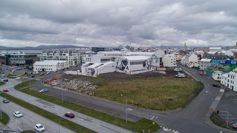 Héðinsreitur eins og hann lítur út í dag.