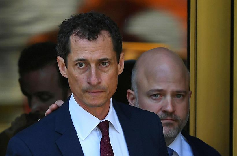 Anthony Weiner, þegar hann kom fyrir dómara í dag.