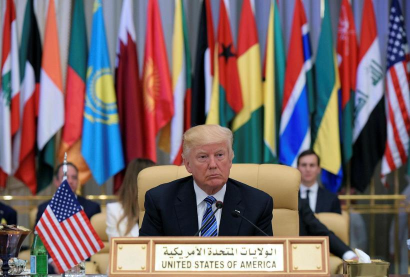 Donald Trump í Sádí-Arabíu.