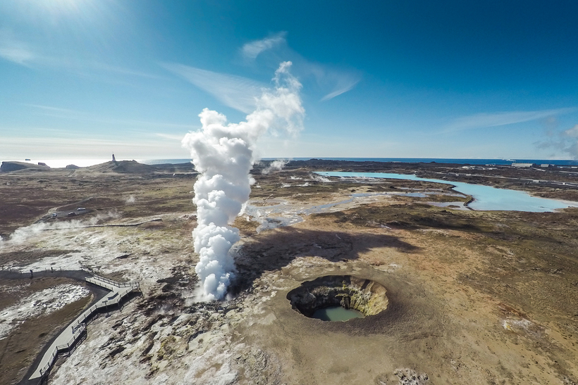 Gunnuhver geothermal area is located on the south-west corner of ...