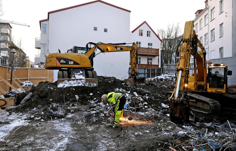 Construction has been very noticable in Laugavegur in the past ...