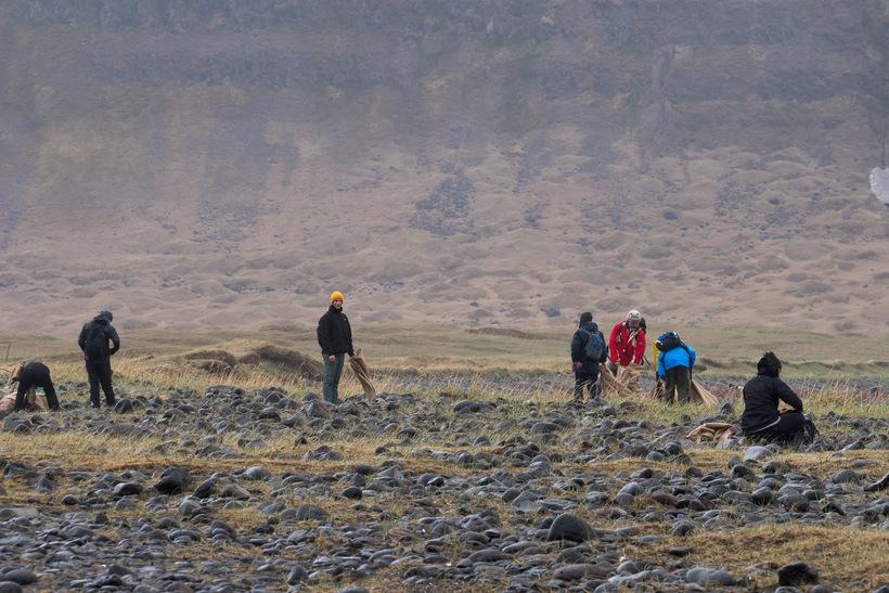 30 volunteers spent last weekend in Aðalvík, picking up garbage.