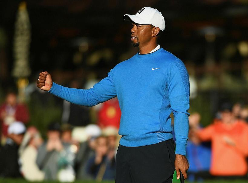 Tiger Woods er í basli.