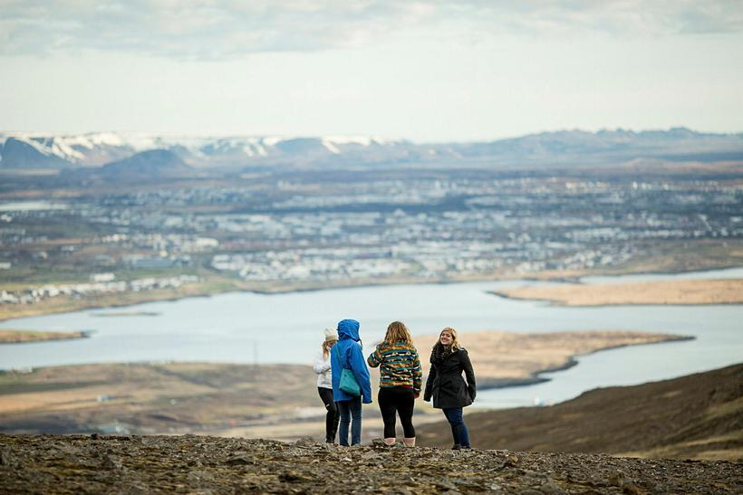 The view from Esja over Reykjavik is stunning.