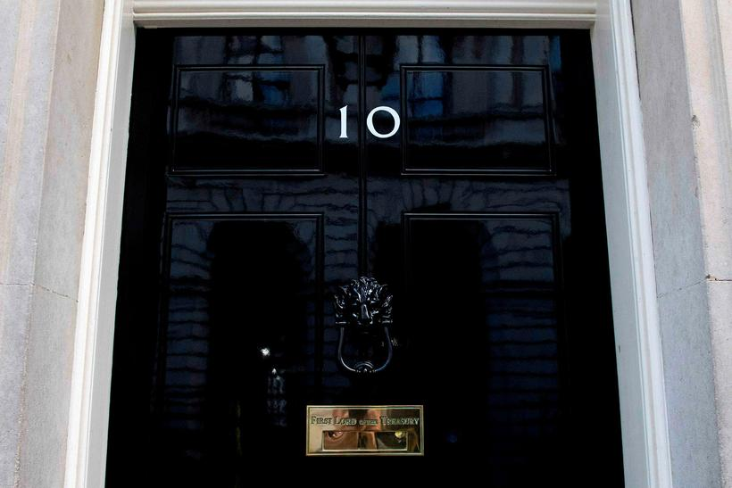 Downingstræti 10 í London, skrifstofa breska forsætisráðherrans.
