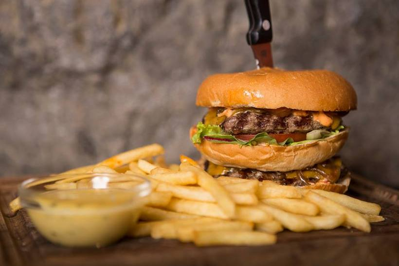 Chuck Norris grill is yet another burger option.