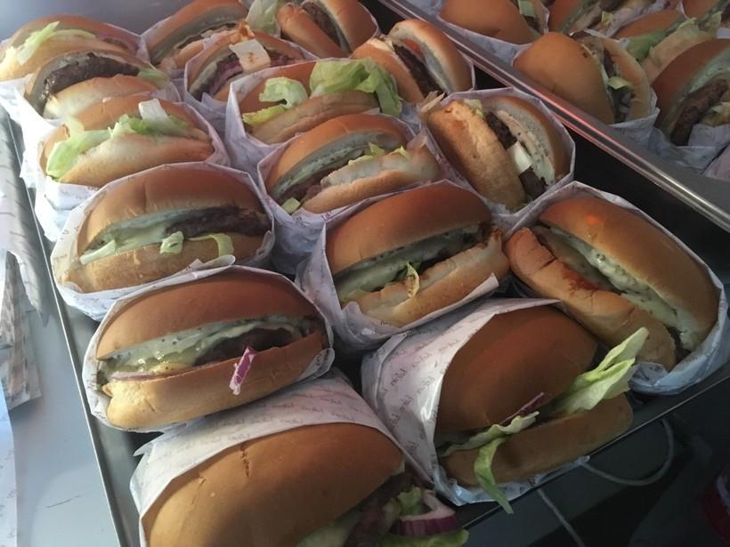 Tuddinn grass-fed burgers.