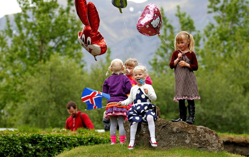 The day is celebrated all over Iceland with sweets, balloons, ...