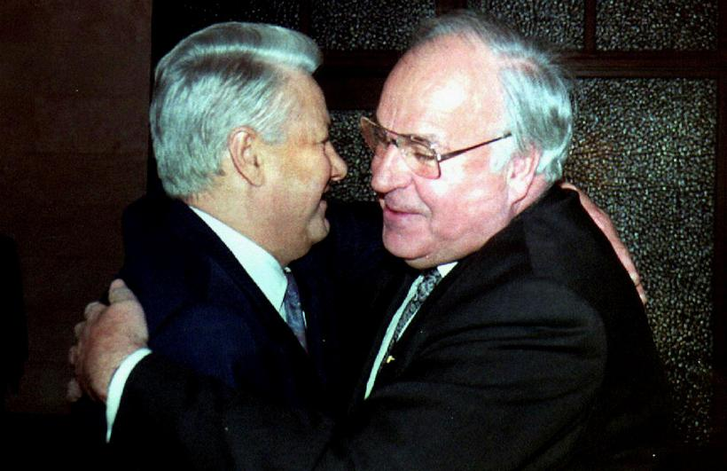 Kohl og Boris Jeltsín, forseta Rússlands, árið 1993.