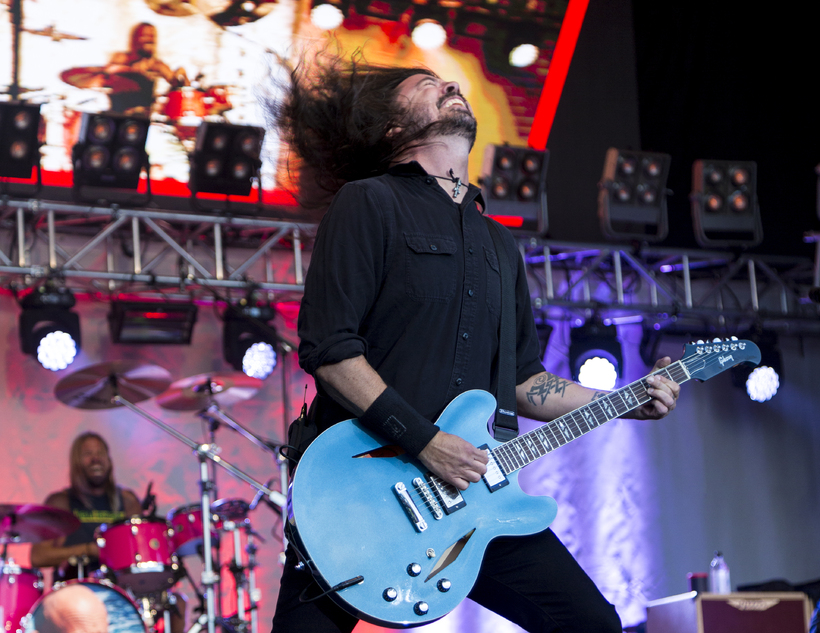 The Foo Fighters played many of their old hits, along ...