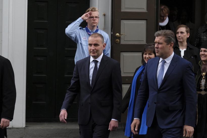 Forseti og forsætisráðherra.