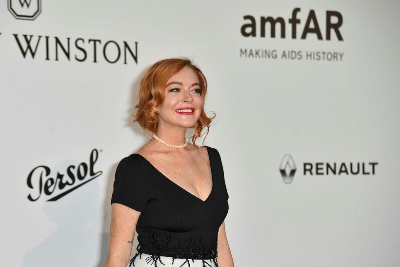 Lindsay Lohan á rauða dreglinum.