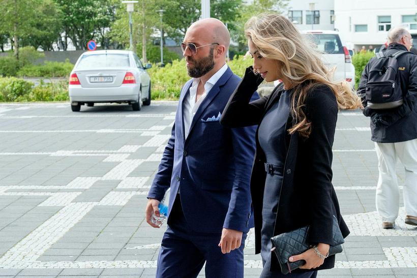 Arnar Gunnlaugsson og María Builien Jónsdóttir eru glæsileg saman.
