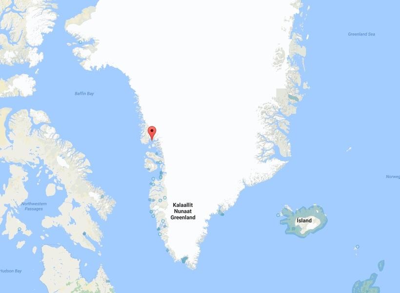 Nuugaatsiaq er á vesturströnd Grænlands.