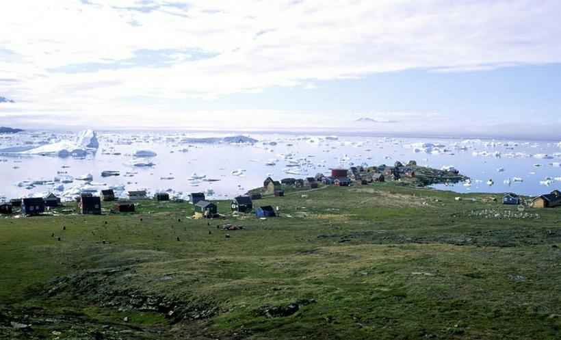 Þorpið Nuugaatsiaq á Grænlandi.
