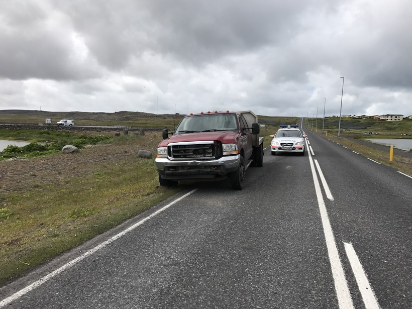 Ökumaður bifreiðarinnar náði ekki að afstýra árekstri.
