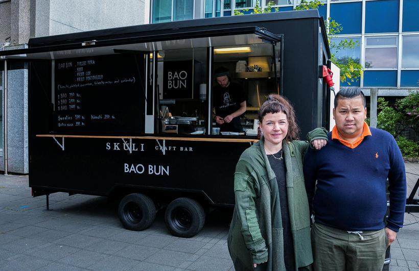 Hrefna Rósa and Guðlaugur Frímannsson, owners of the Bao Bun ...