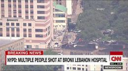 Frá vettvangi við Bronx-Lebanon spítalann.