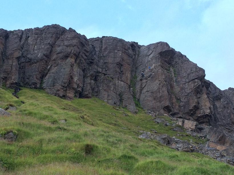 """""""Þetta eru 30 metra háir veggir og hver leið er ..."""