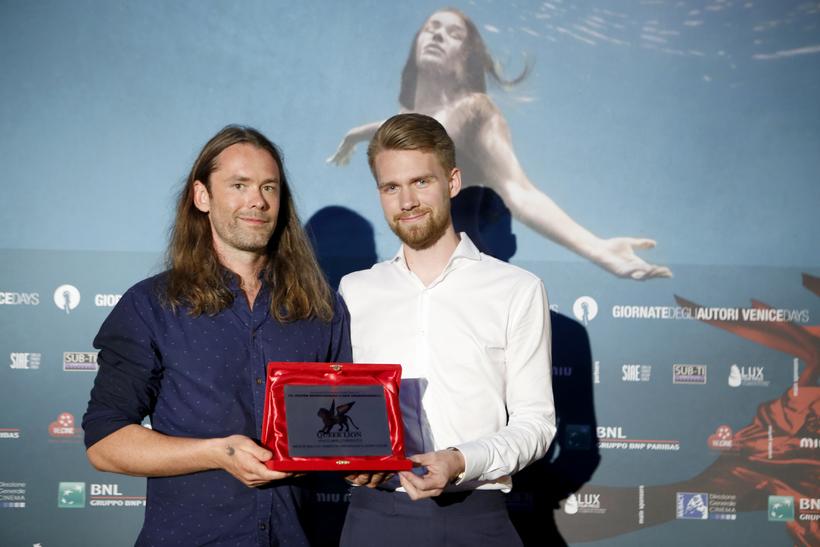Director Guðmundur Arnar Guðmundsson (left) and producer Anton Máni Svansson ...