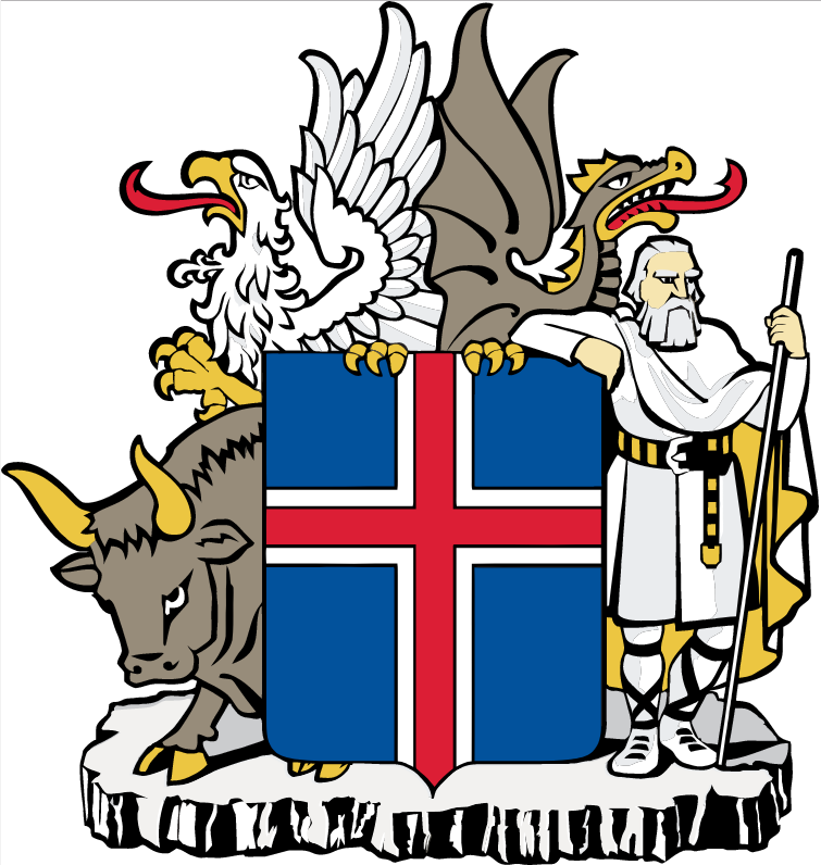 Iceland's coat of arms.