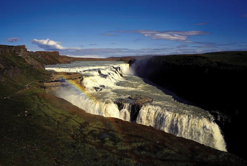Gullfoss waterfall is one of Iceland's most popular tourist attractions.