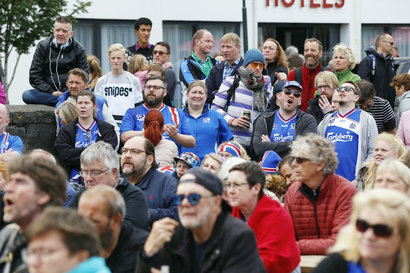 Spectators getting frustrated at last nights match.