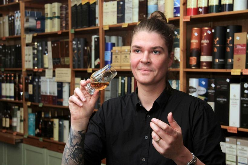 Jakob Jónsson er fjölfróður um viskí.