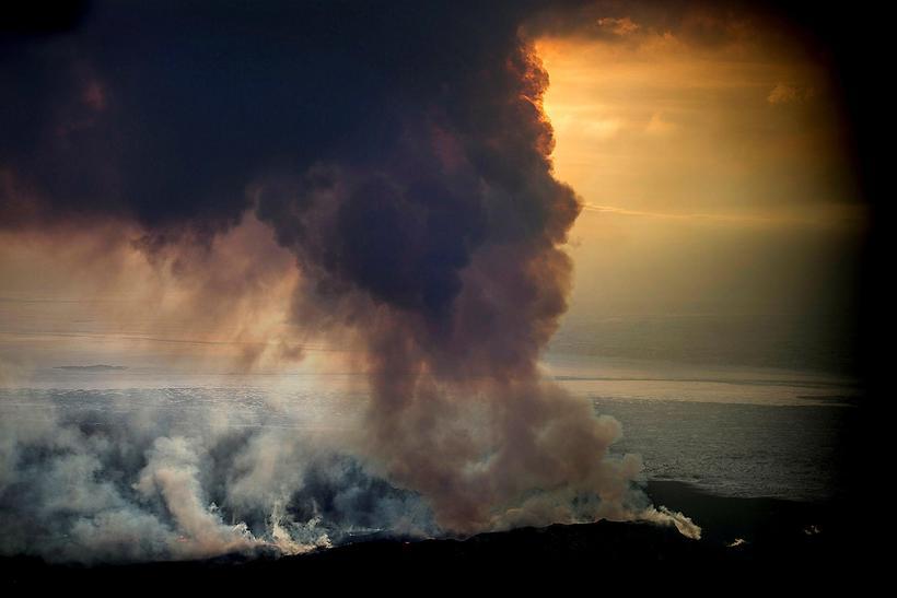 Eldgosið í Holuhrauni stóð frá 2014-2015.