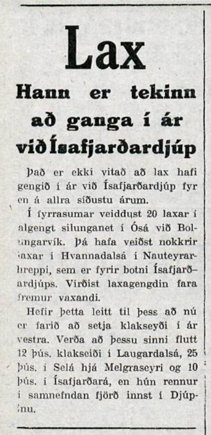 Úr Nýja dagblaðinu í júlí 1937.
