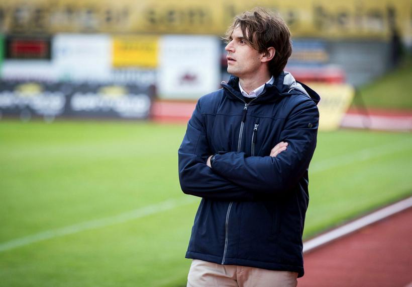 Milos Milojevic þjálfari Breiðabliks.