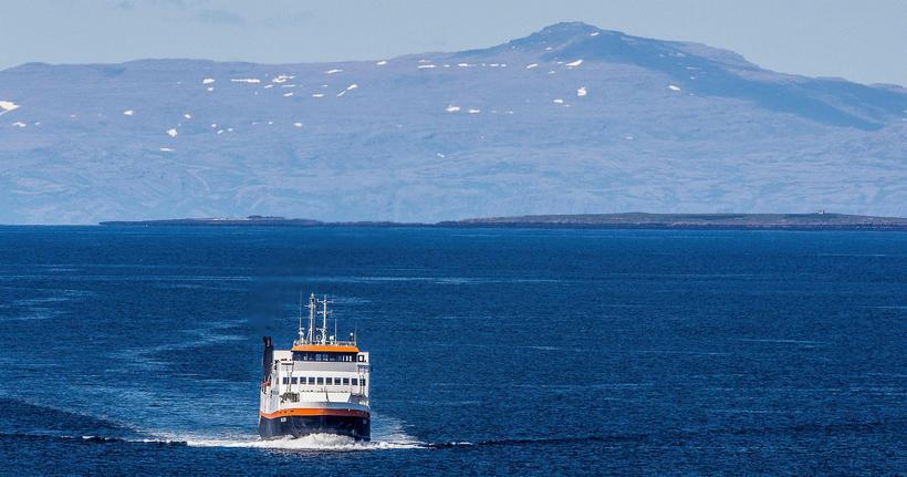 Sailing on Breiðafjörður bay.