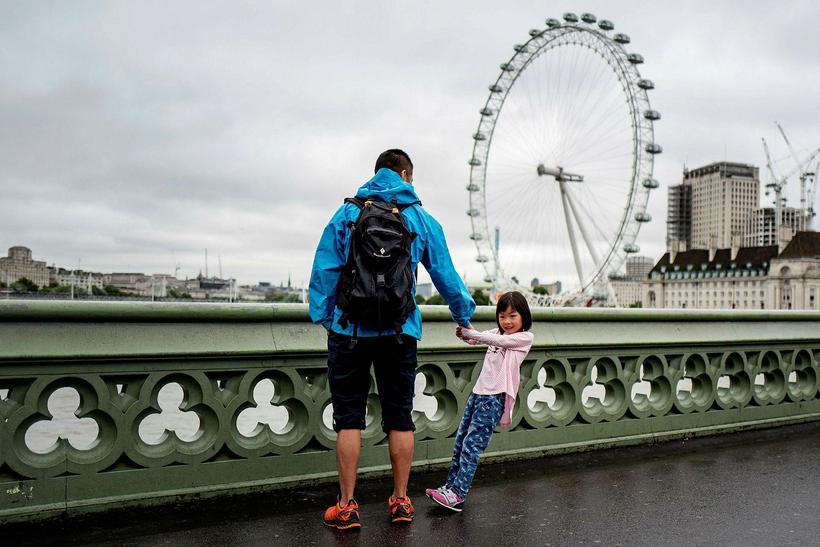 Parísarhjólið London Eye var fyrirmynd Parísarhjólsins sem aldrei verður.