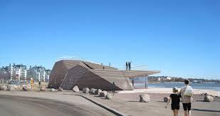 Arkitektúr Löyly-sánunnar er óneitanlega sérstæður, en þegar viðurinn í húsinu ...