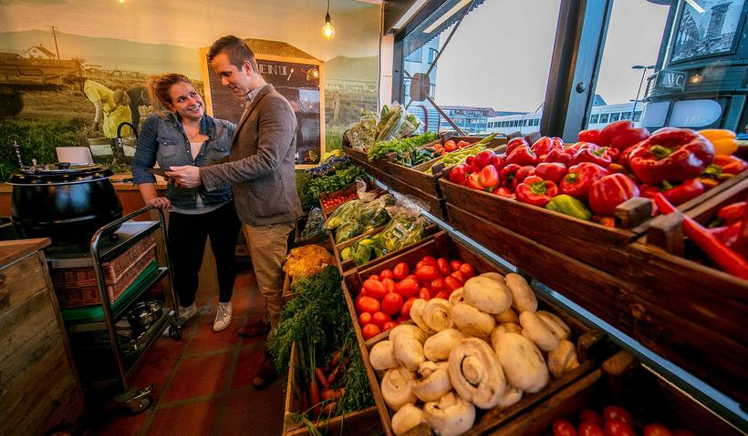 Rabarbarinn, a vegetable and flower stall that also offers freshly ...