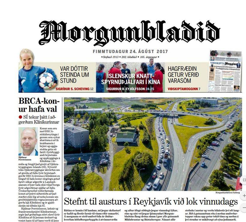 Morgunblaðið verður aðeins seinna á ferðinni í dag en venjulega.