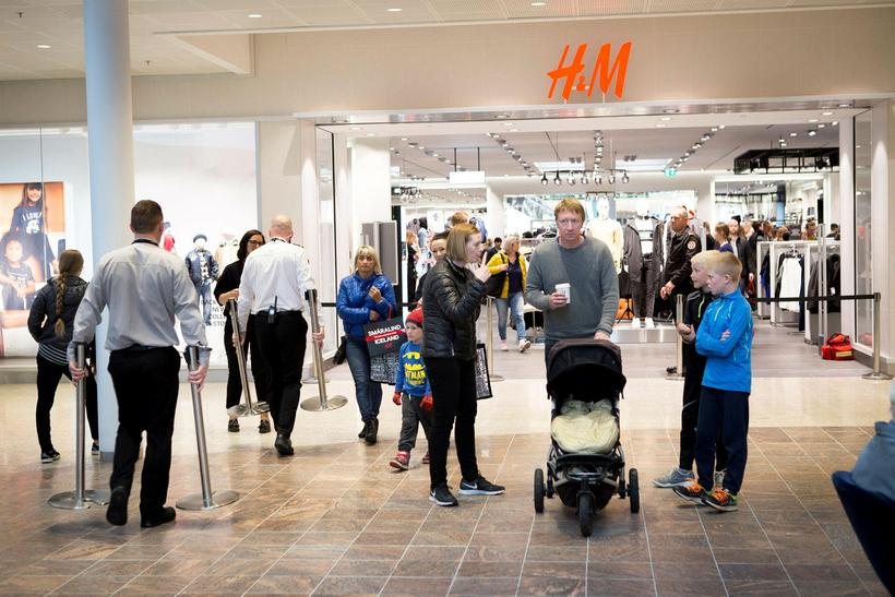 The H&M store in Smáralind in Kópavogur, a suburb of ...