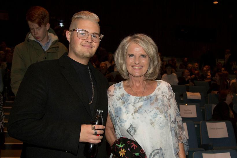 Róbert Óliver Gíslason og Edda Björgvinsdóttir.