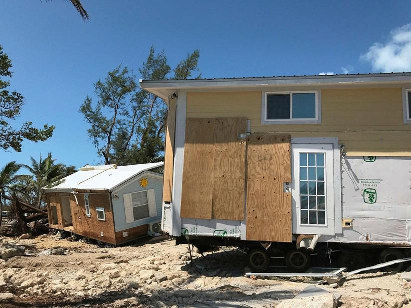 Húsin í Sea Breeze hjólhýsagarðinum á Islamorada í Florida Keys ...