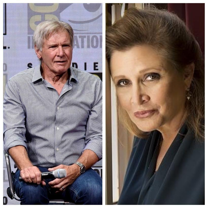 Harrison Ford og Carrie Fisher áttu í stuttu ástarsambandi þegar ...
