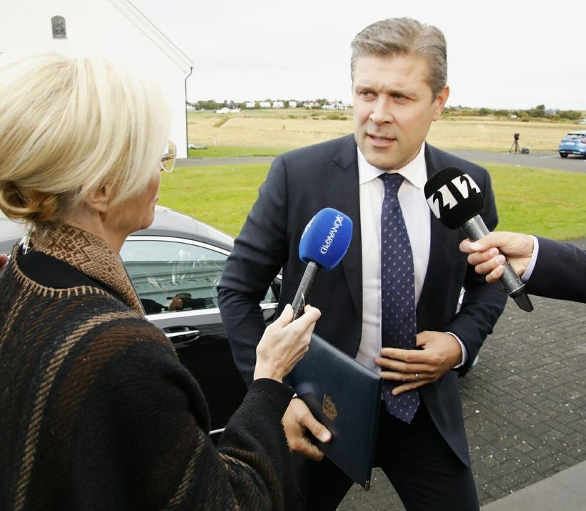 Bjarni Benediktsson á Bessastöðum.