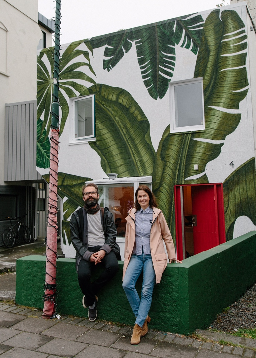 Rakel and Örlygur outside the new Súpubarinn.