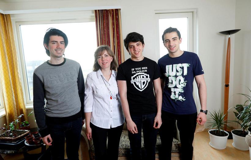 Jalal Kroma, Lina Ashouri, Aser og Jad.
